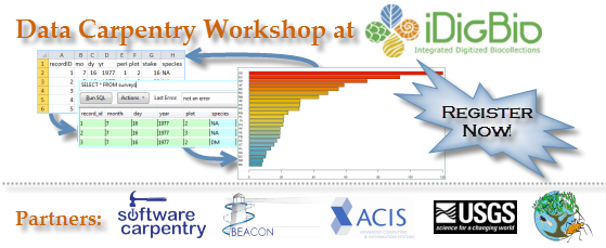 banner for Data Carpentry Workshop