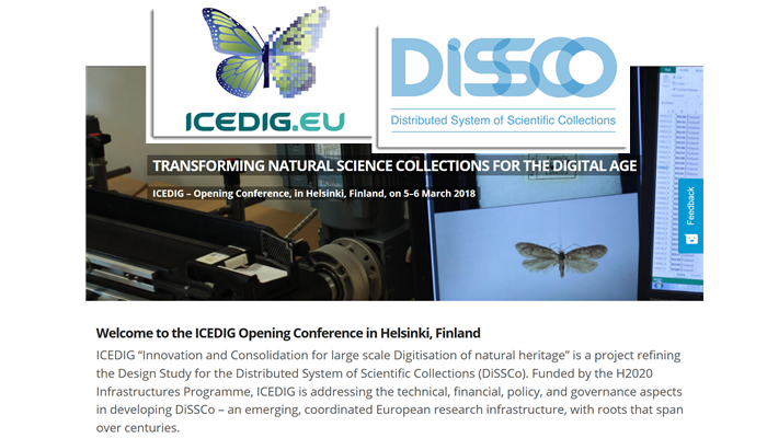 Screen shot from ICEDIG kickoff desing study meeting for DiSSCo