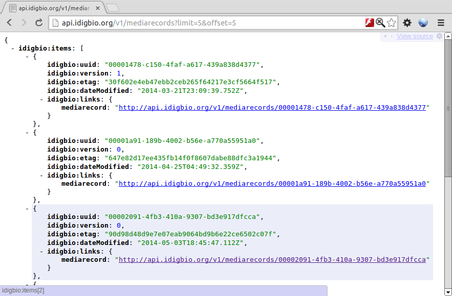 Screenshot jsonview idigbio api mediarecords limit offset.png