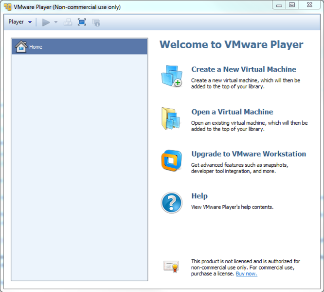 File:VMWare player opening screen.PNG
